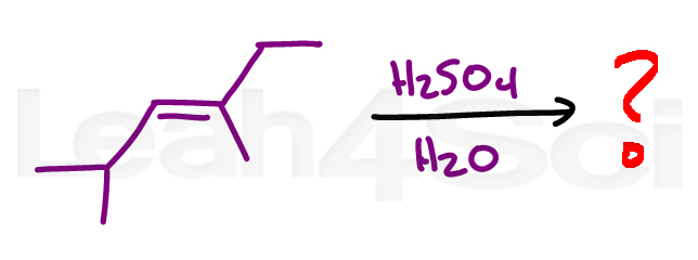 acid catalyzed hydration alkene reaction practice question