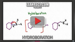 hydroboration oxidation alkene reaction mechanism tutorial video