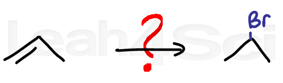 hydrohalogenation alkene reaction practice question