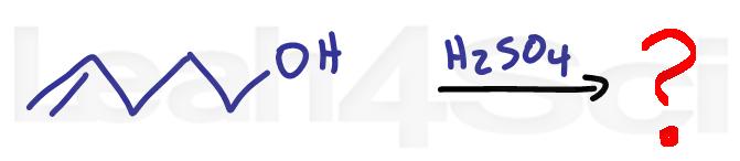 intramolecular acid catalyzed alcohol addition alkene reaction practice question