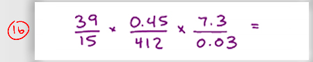 MCAT Math Practice Question 16