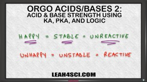 Ranking Acid Base Strength Using Ka pKa and Logic