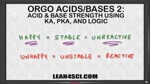 Ranking Acid Base Strength Using Ka pKa and Logic