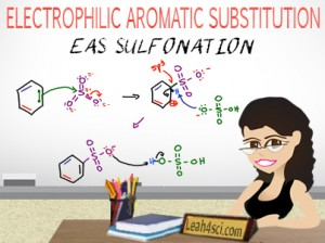 aromatic sulfonation reaction mechanism EAS by leah fisch