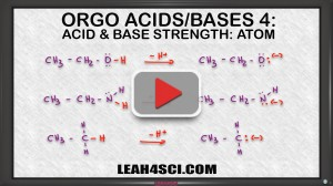 atom size and electronegativity for ranking acid base strength in organic chemistry
