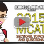 2015 mcat sections topics and questions video