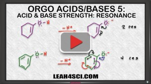effect of resonance on ranking acids and bases in organic chemistryvideo