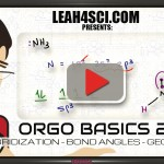 Orgo Basics Video 2 Hybridization Bond Angle and Geometry