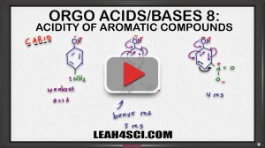 acidity of aromatic compounds with resonance tutorial video