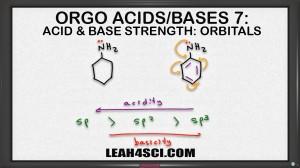 orbital hybridization on acids and bases organic chemistry leah4sci