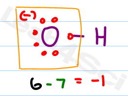 Hydroxide OH- formal charge and lewis structure