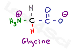 glycine zwitterion structure