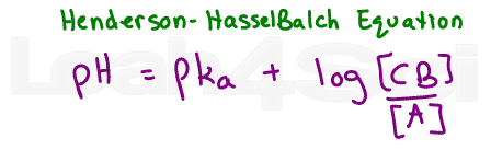 henderson-hasselbalch equation for buffers