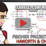 Converting Fischer to Haworth and Chair for glucose and fructose tutorial video