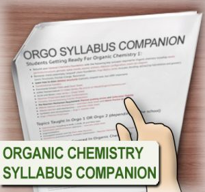 Syllabus companion for organic chemistry students