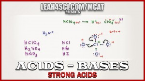 pH Calculations for Strong Acids in MCAT Acid Base Chemistry Video 2