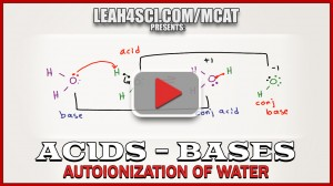 Autoionization of water mcat tutorial video