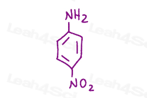 Resonance Quiz para nitroaniline
