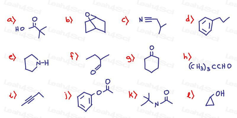 Functional Groups Organic Chemistry Practice Quiz Part 2