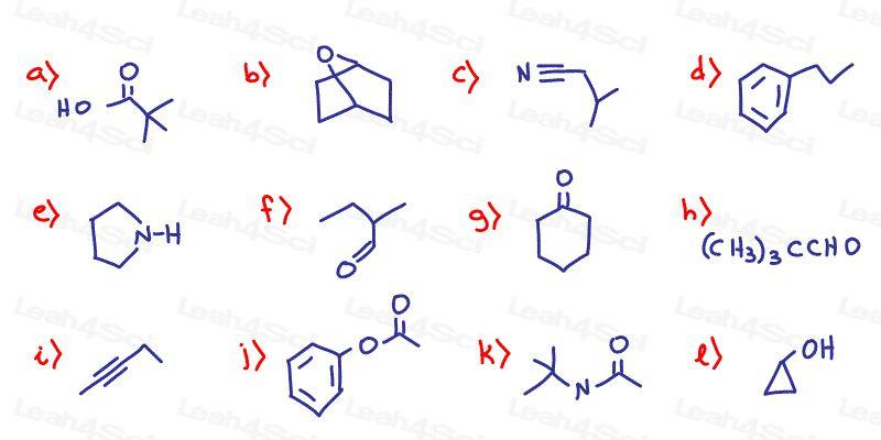 Functional Groups Organic Chemistry Practice Quiz Part 2