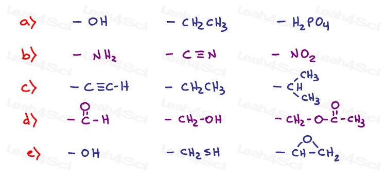 Stereochemistry Practice Cahn Ingol Prelog Ranking Rules