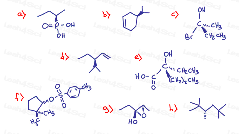 Stereochemistry Practice finding R and S chirality