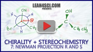 Newman projection stereochemistry r and s configuratios tutorial video