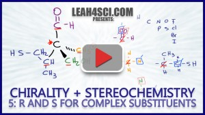 R and S configurations for complex chiral molecules
