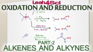 Alkenes & Alkynes Oxidation Reduction and Oxidative Cleavage tutorial video