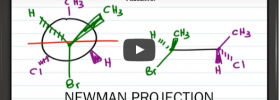 Newman Projection to Bond Line Notation Trick by Leah4Sci