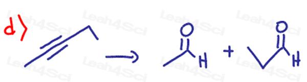 Redox Practice Quiz alkyne to aldehyde