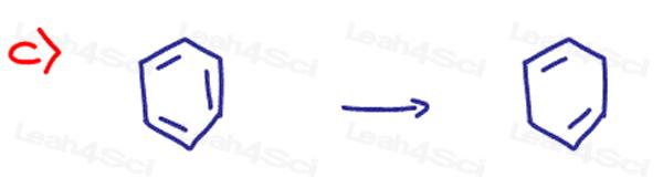 Redox Practice Quiz benzene to hexadiene