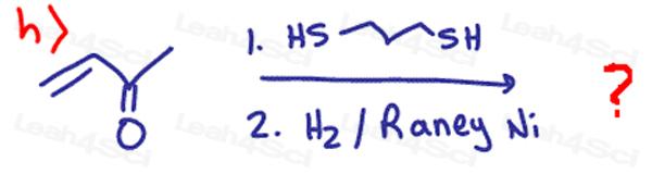 Redox Practice Quiz carbonyl with Raney Nickel