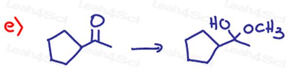 Redox Practice Quiz ketone to hemiketal