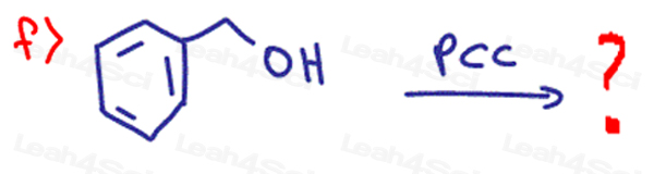 Redox Practice Quiz primary alcohol with PCC