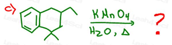 Redox Practice Quiz side chain oxidation with KMnO4