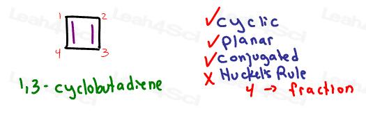 1,3-cyclobutadiene anti aromatic Aromaticity tutorial