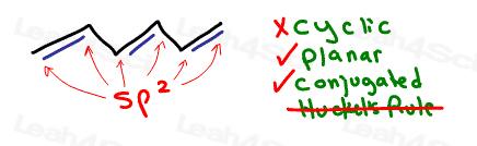 hexatriene nonaromatic planar conjugated