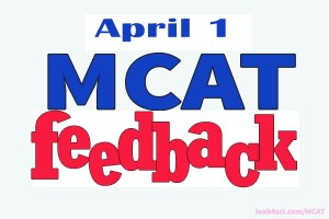 MCAT Resource Advice From an April 1 Tester -