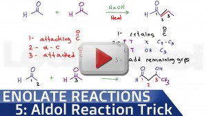 Aldol Condensation Reaction Trick tutorial video