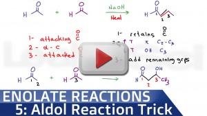 Aldol Condensation Reaction Trick tutorial video