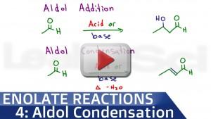 Aldol addition and aldol condensation tutorial video