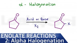 Alpha Halogenation Of Ketones and Aldehydes
