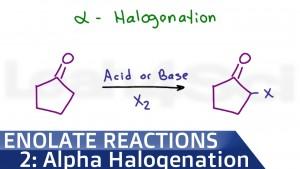 Alpha Halogenation Of Ketones and Aldehydes