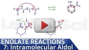 Intramolecular Aldol Condensation Reaction and Mechanism tutorial video
