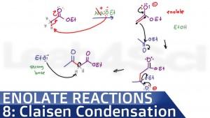 Claisen Condensation Reaction Mechanism Organic Chemistry video by Leah Fisch