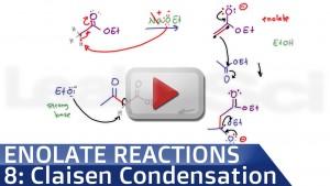 Claisen Condensation Reaction Mechanism Tutorial Video by Leah Fisch