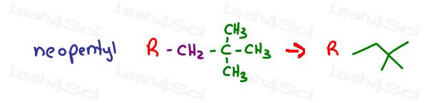 Neopentyl Organic Molecule substituents