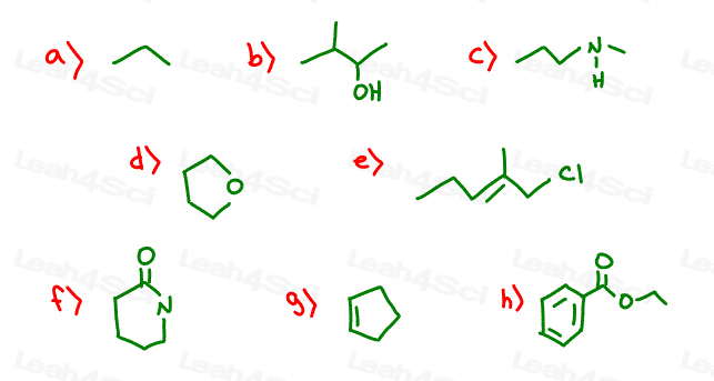 Drawing Smooth Lines Quiz : Drawing skeletal structures of organic compounds practice