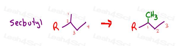 sec butyl organic nomenclature example